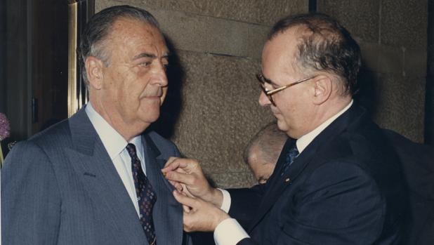osé Fernández de Villavicencio, marqués de Vallecerrato (izda) con Guido Brunner