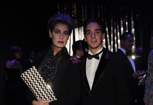 Clemente Lequio junto a su madre