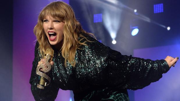 La cantante Taylor Swift en una actuación