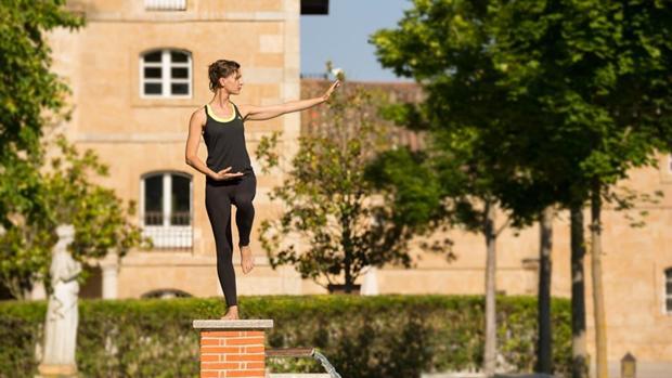 Sesión de yoga en Hacienda Zorita (Salamanca)