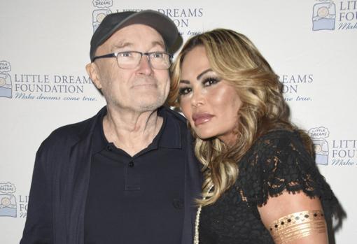 Phil Collins y Orianne Cervey