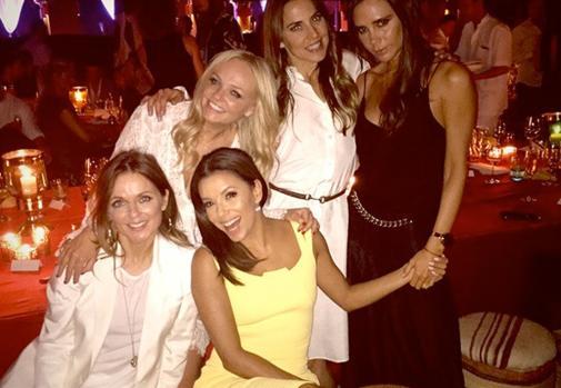 Las Spice Girls junto a Eva Longoria