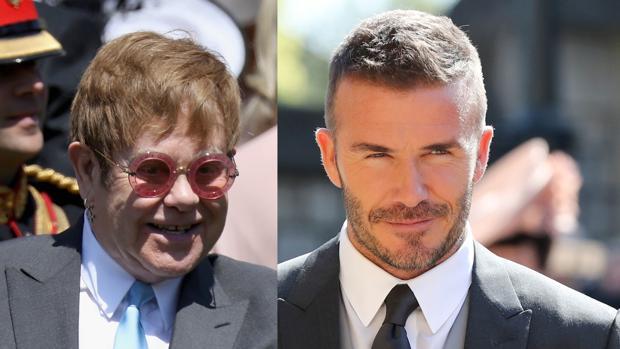 Elton John y David Beckham