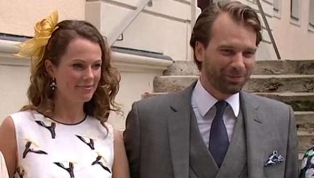 Georg-Constantin of Saxe-Weimar-Eisenach el día de su boda con Olivia Rachelle Page