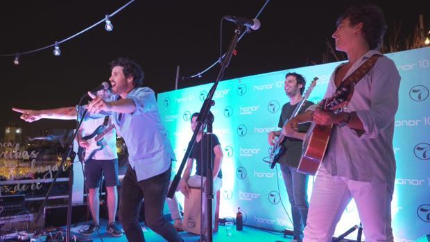Taburete, durante el concierto que ofreció anoche en Casa Suecia, en Madrid