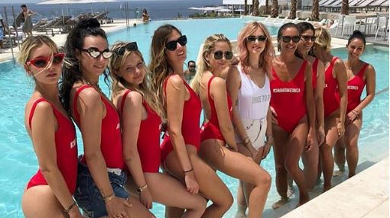 Chiara Ferragni toma Ibiza en su despedida de soltera