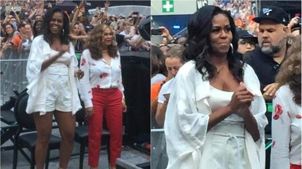 Michelle Obama baila a ritmo de Beyoncé en París