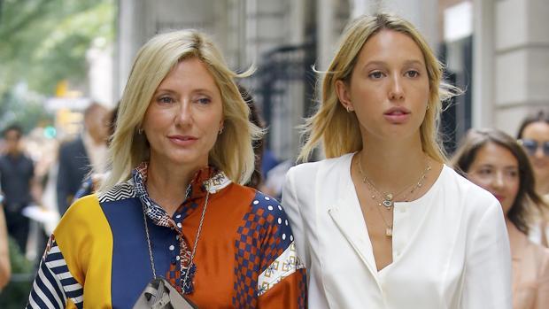 Marie-Chantal de Grecia y su hija Olympia en Nueva York