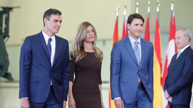 La esposa de Sánchez asistirá en Nueva York mañana a la recepción de Melania Trump