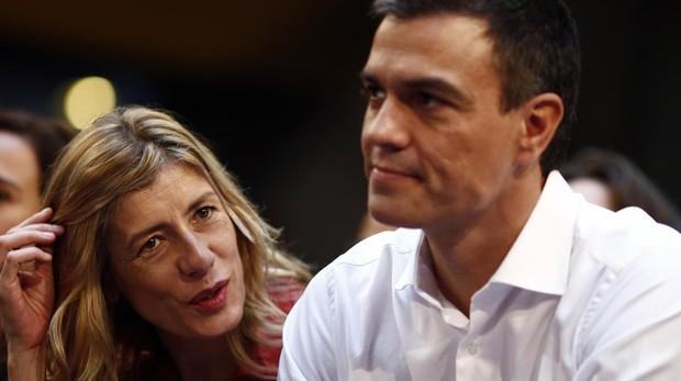 Begoña Gómez junto a Pedro Sánchez