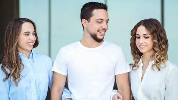 (De izq. a dcha.) Salma, Al Hussein e Iman de Jordania