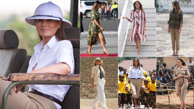 africano alcuni con PeopleStyle Trump per dei Melania il suo look tour suoi N8n0POkwX