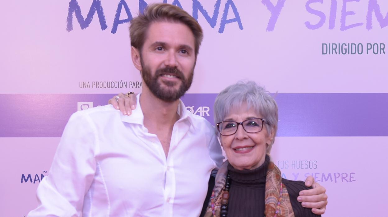 Concha Velasco se solidariza con la osteoporosis