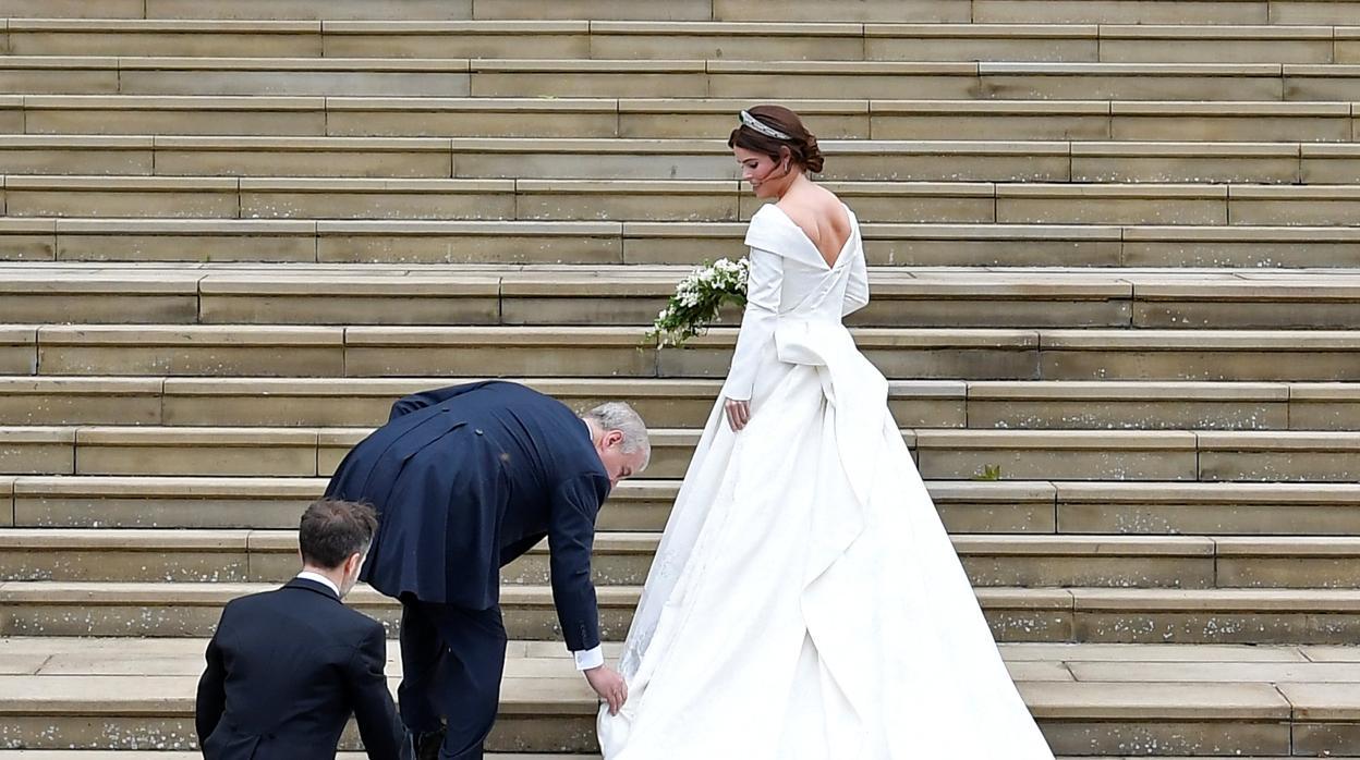 Todos los detalles del vestido de novia de Eugenia de York