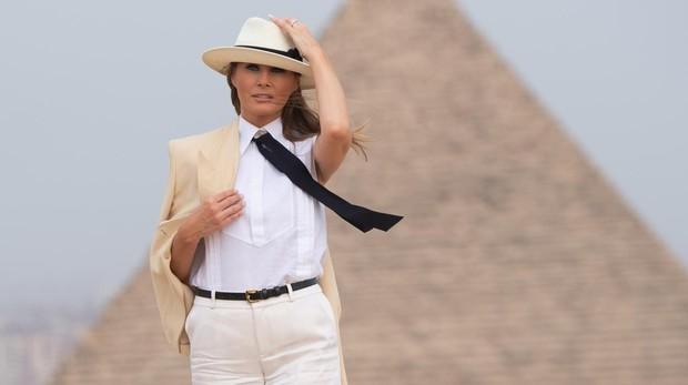 Melania Trump, durante su viaje a Egipto