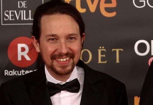 Pablo Iglesias, en los Premios Goya