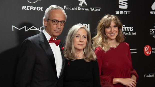 Bonaventura Clotet junto a su mujer, Anna Fresquet, y su hija Aina