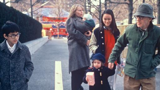El cineasta con su entonces mujer y sus hijos
