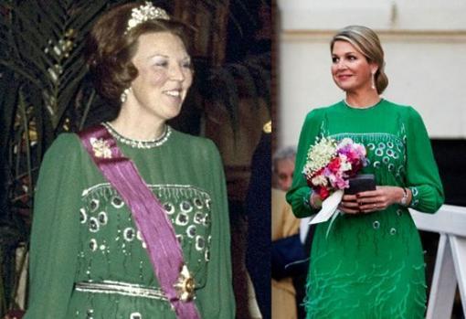 Máxima de Holanda llevó en 2014 un vestido que Beatriz de Holanda llevó en 1981