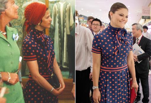 Victoria de Suecia llevó en 2017 un vestido de su madre de hace 40 años