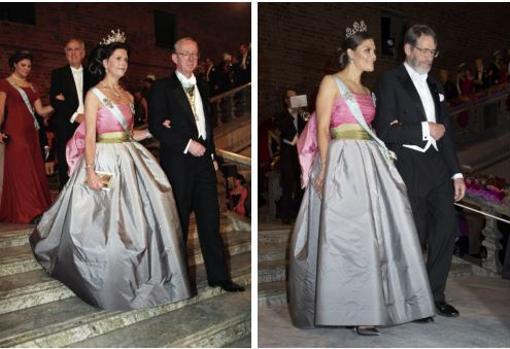 Victoria de Suecia recicló en 2018 un vestido de su madre de 1995