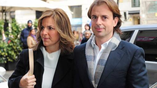 Arantxa Sánchez Vicario y Josep Santacana durante la presentación del libro de la extenista