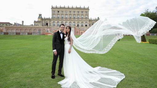 Cesc Fàbregas y Daniella Semaan posan tras su boda