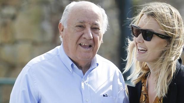 Amncio Ortega y su hija Marta