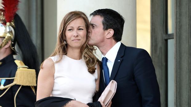 Manuel Valls y Anne Gravoin