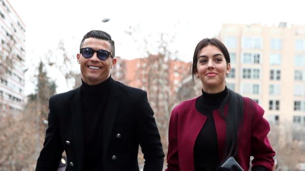 Cristiano Ronaldo y Georgina Rodríguez, esta misma mañana