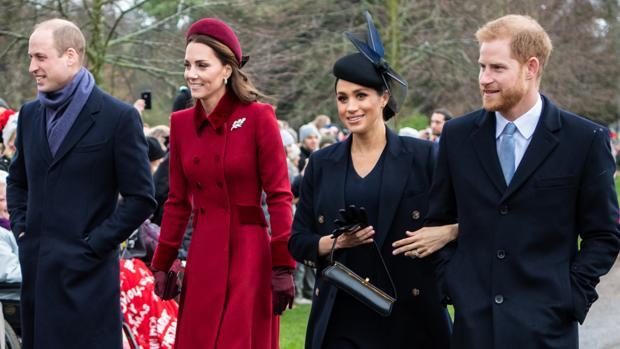 El Príncipe Guillermo, la duquesa de Cambridge, la duquesa de Sussex y el príncipe Harry