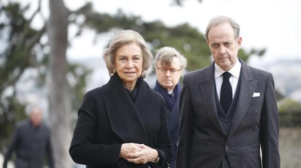 La Reina Sofía y Jean d'Orléans