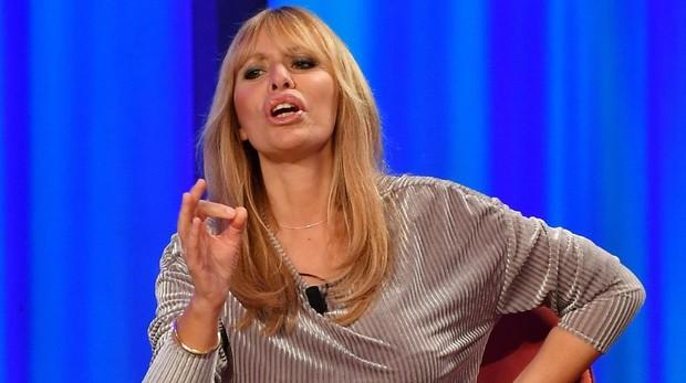 Alessandra Mussolini en un programa de la televisión italiana, en diciembre de 2018