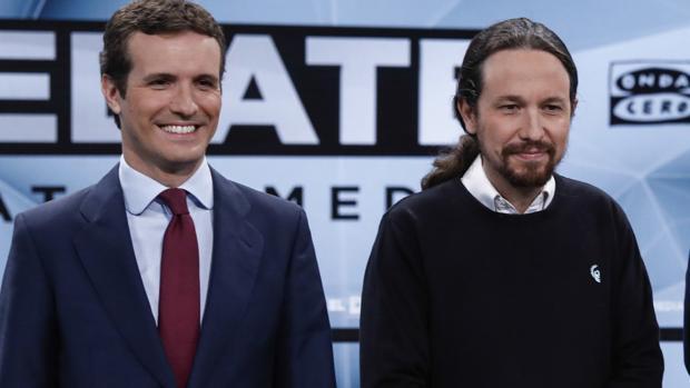 Pablo Iglesias y Pablo Casado