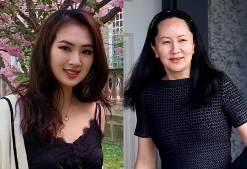 Ren Zhengfei tiene dos hijas y un hijo. Sobre estas líneas, Meng Wanzhou y Annabel Yao