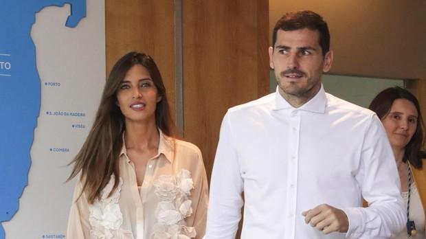 Sara Carbonero e Iker Casillas, el pasado 6 de mayo, cuando al guardameta le dieron el alta