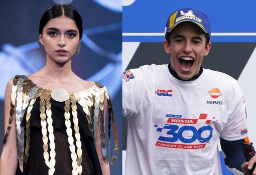 Lucía Rivera y Marc Márquez