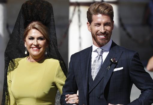 Sergio Ramos y su madre