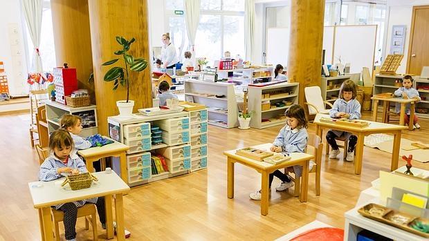 Aula de Infantil en el Colegio Montessori Palau de Gerona