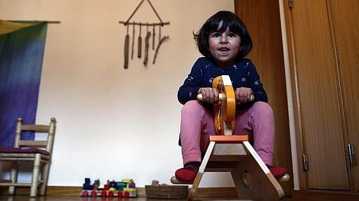Una pequeña juega en el Nido de Aravaca