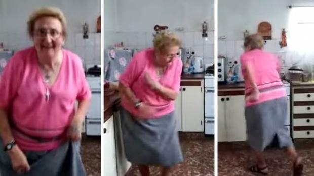 El desternillante baile de la abuela «Chispita» que se ha hecho viral en YouTube