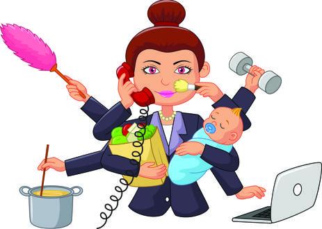 Los diez trabajos de las madres de hoy