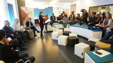 Presentación del Hackathon de Salud Junior, en Telefónica