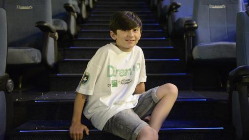 Christian, 10 años, asegura que le ha encantado hacer cortometrajes «pero he tenido que aprender a tener paciencia para ver el resultado final de todo el trabajo realizado. De mayor quiero ser actor»