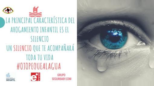 Cartel de la campaña «Ojo peque al agua»
