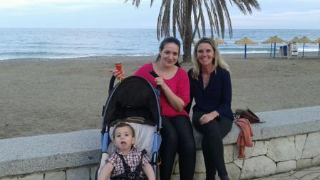 Loreto de vacaciones junto a Liliana y su bebé Izan