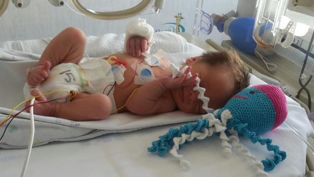 Pulpos para tranquilizar y regular a bebés prematuros