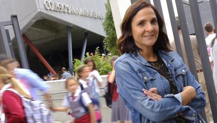 Liliana Manuela, una madre del colegio Santa María la Blanca