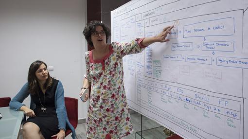 Profesoras del área de innovación del Colegio Santa María la Blanca