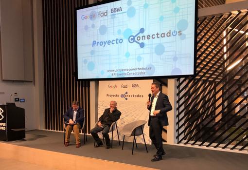 Representantes de las tres instituciones, durante la presentación del proyecto